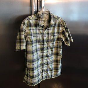 KUHL mountain grown men's shirt top MED plaid